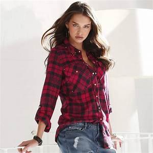 chemise a carreaux femme c39est top tendance With chemise rouge a carreaux femme