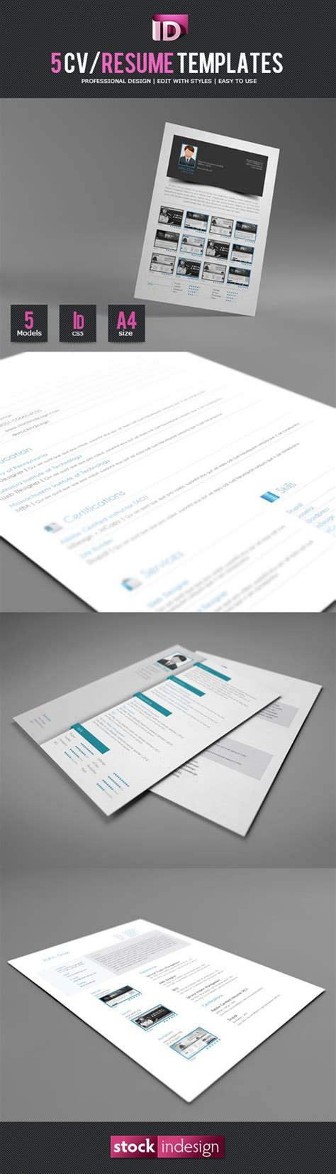 5 Cv Resume Indesign Templates by 52 Best Free Indesign Templates Images On Free