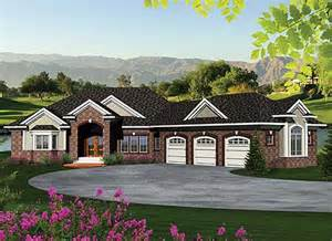 ranch style house plans with walkout basement house plans ranch walkout basement house design plans