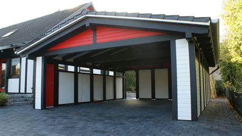 Spitzdachcarport Mit Horizontal Verlegter