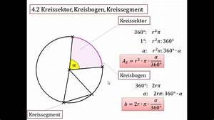 Kreissehne Berechnen : 4 2 kreissektor kreisbogen kreissegment youtube ~ Themetempest.com Abrechnung