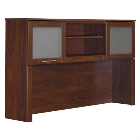 bush somerset desk 60 bush somerset hutch for 60 inch l desk in hansen cherry