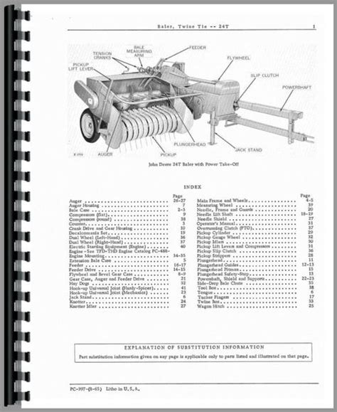 24t Square Baler Diagram by Deere 24t Baler Parts Manual