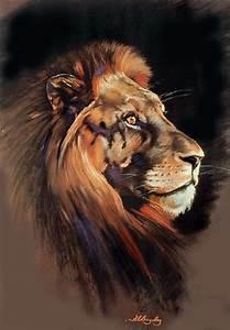 Lion's Head Pastel by Samantha Baguley