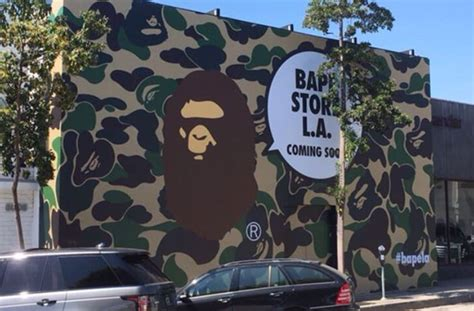 bathing ape  reopen store  los angeles complex
