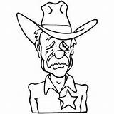 Coloring Cowboy Sheriff Printable Pages Western Cowboys Sad Books West Cartoons Adults Cartoon Theme Coloringpages101 Template Adult Sheets Printables Cool sketch template