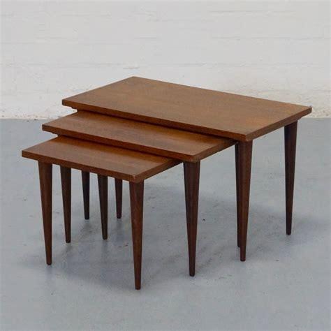 vintage table ls 1950s set of 3 vintage nesting tables 1950s 36656