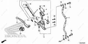 Honda Motorcycle 2008 Oem Parts Diagram For Front Brake