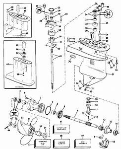 Johnson Gearcase Parts For 1986 15hp J15rcde Outboard Motor