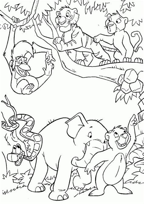 dibujos para colorear animales de la selva animales