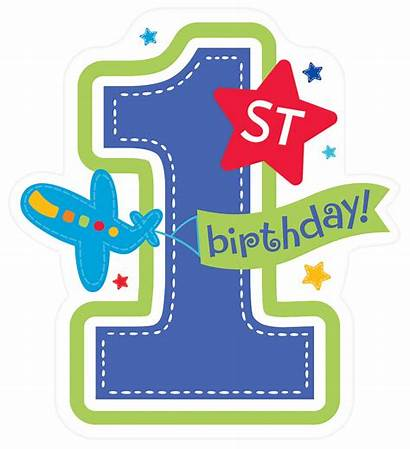 Boy Birthday 1st Aboard Party Cutouts Clipart