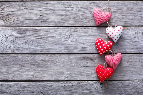 Rustic Wood Backgrounds with Hearts