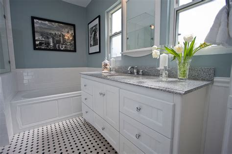 undermount bathroom sink with tile traditional black and white tile bathroom remodel