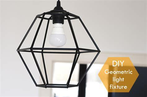 diy geometric pendant light fixture pearls and scissors