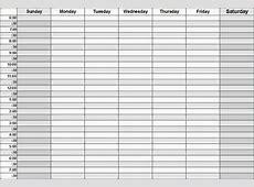 Weekly Calendar With Hours free calendar 2017
