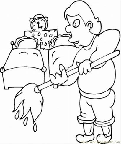 Coloring Husband Pages Cleans Wife Coloringpages101 Adult