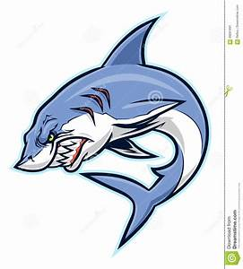 Angry Shark Stock Vector - Image: 69281691