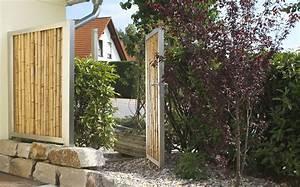 Bambus Sichtschutz Mit Edelstahl : t r und tor ~ Frokenaadalensverden.com Haus und Dekorationen
