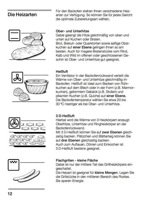 Backofen Ober Unterhitze by Backofen Zeichen Fr Umluft Diese Funktionen Sollte