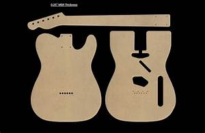 Telecaster Mdf Guitar Body And Neck Template 0 25