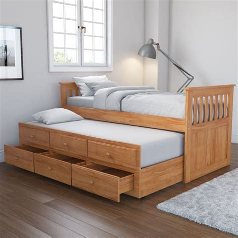 trundle beds with storage oxford captains guest bed with storage in pine trundle 17585