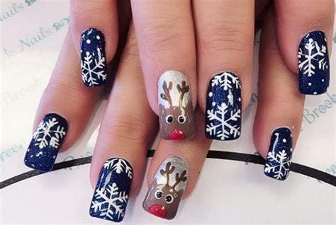 2018 christmas nails theme snow nail the prettiest snow nails winter nail