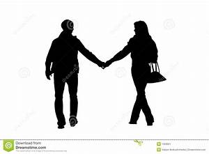 Walking Couple Silhouette Stock Image - Image: 1303051