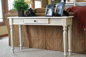 Decorate a sofa table sofa table design how to decorate for Sectional sofa with table behind