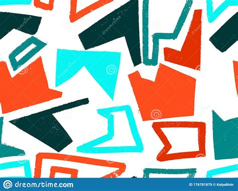 Seamless Abstract Doodle Background Pattern In Bright ...
