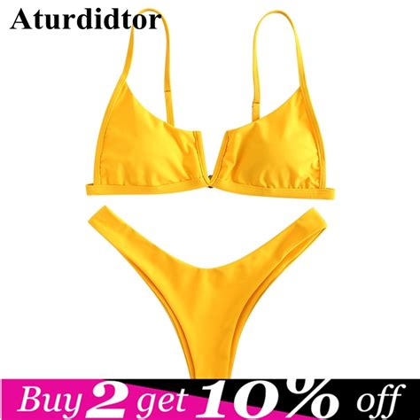 aliexpress buy high leg set v wired v neck solid color yellow army