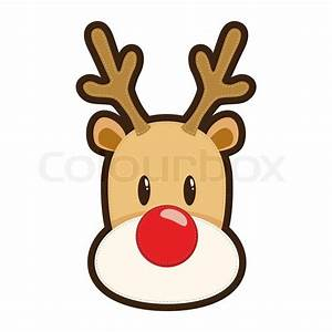 Rudolph the Red Nosed Reindeer Face Drawing | Noel ...