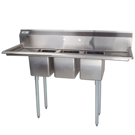 3 compartment sink for sale 3 compartment sink with 2 drainboards regency 16 gauge