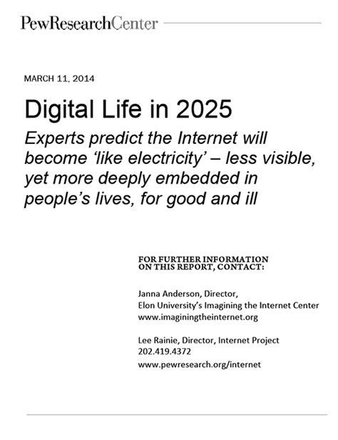 Elon Pew Future of the Internet Survey Report: Experts