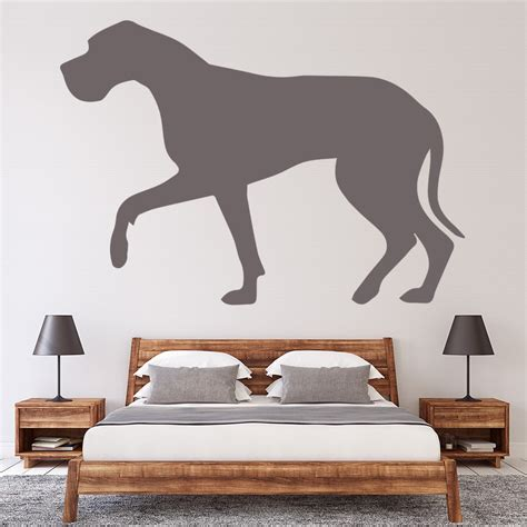 great dane wall sticker dogs pets wall decal kids vets living home decor