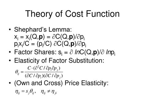 Theory Of Functionals And Ppt Translog Cost Function Powerpoint Presentation Id