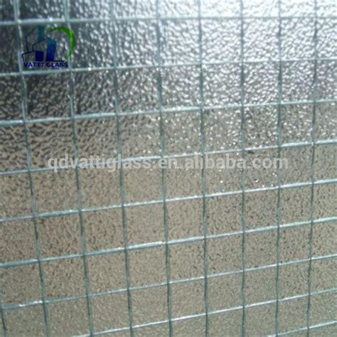 toughened window glass  laminated wired glass wire mesh