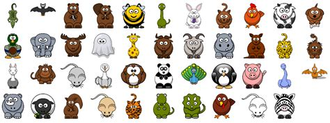 set   cute cartoon animals hathix cartoon animals