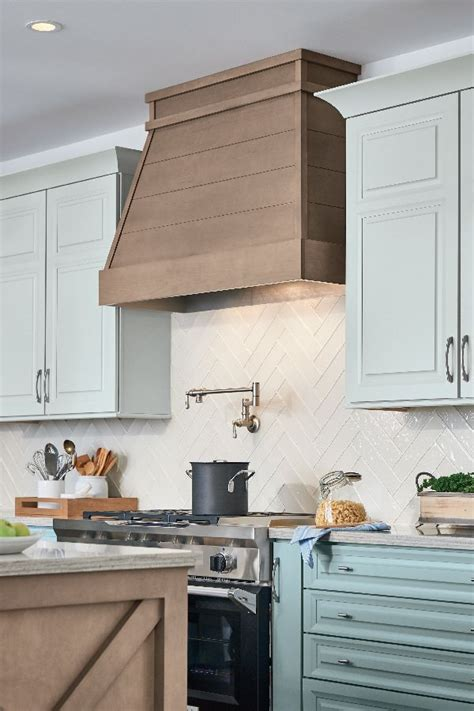 shiplap wood hoods create  inviting focal point