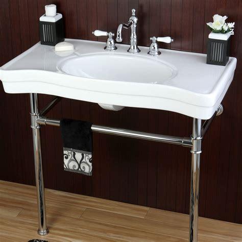 vintage style bathroom sinks vintage style 36 inch wall mount chrome pedestal bathroom