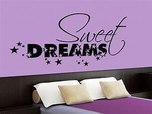 Wandtattoo Sweet Dreams : wandtattoo sweet dreams mit sternen f rs schlafzimmer ~ Whattoseeinmadrid.com Haus und Dekorationen
