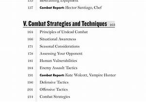 The Vampire Combat Manual  A Guide To Fighting The