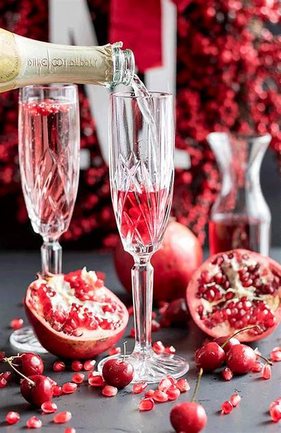 Champagne Pomegranate Cherry Cocktails Jennifer Excited Super