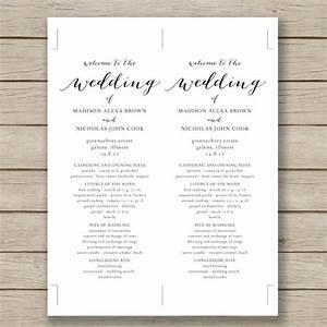 Wedding program template 41 free word pdf psd for Wedding invitation sample word document