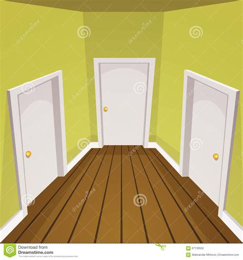 House Hallway Stock Vector. Illustration Of Vector