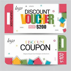 Creative Discount Voucher, Gift Card or Coupon template ...