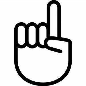 Hand gesture raising the index finger Icons | Free Download