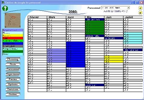 modèle planning congés excel gratuit t 233 l 233 charger cong 233 s et maladies pour windows shareware