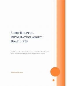 Some helpful information about boat lifts