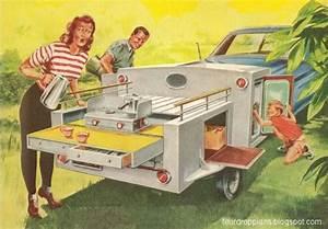 Vintage Teardrop Trailer Campers Chuck Wagon Plans  Chuck