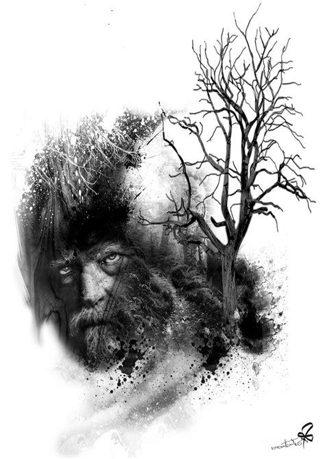 Photoshop, Collage, Tattoo, tree, Burtscher N. | Tattoo